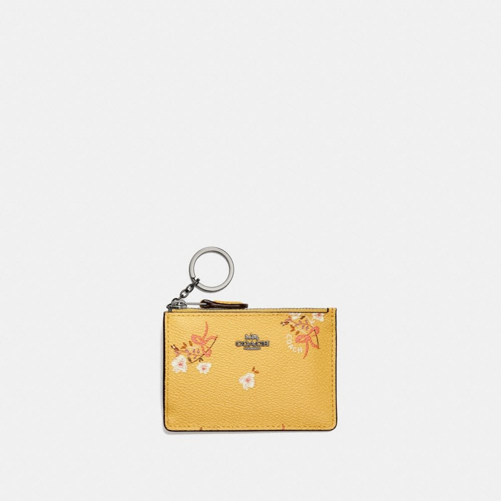 Mini Skinny Id Case With Floral Bow Print by Coach