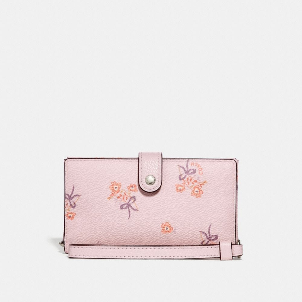 Coach Boxed Phone Wristlet With Floral Bow Print