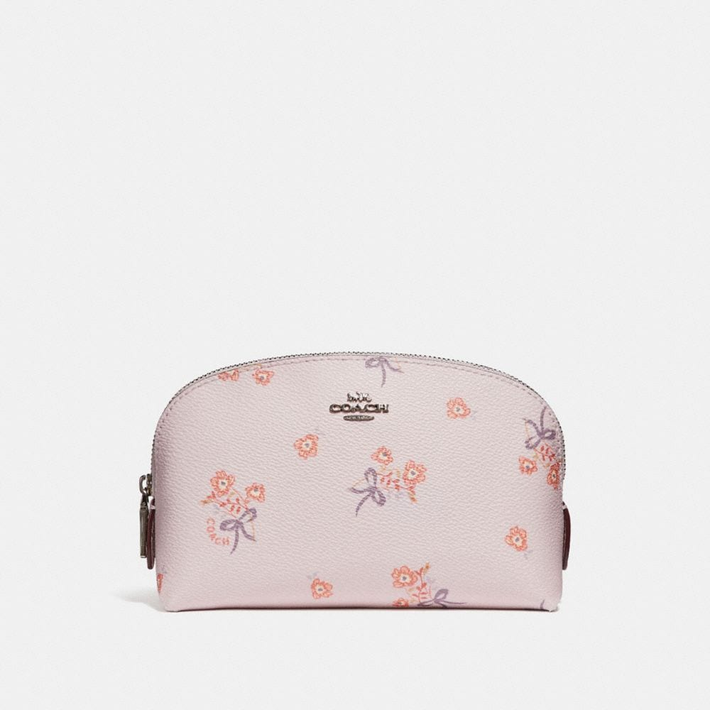 ice pink floral bow/silver