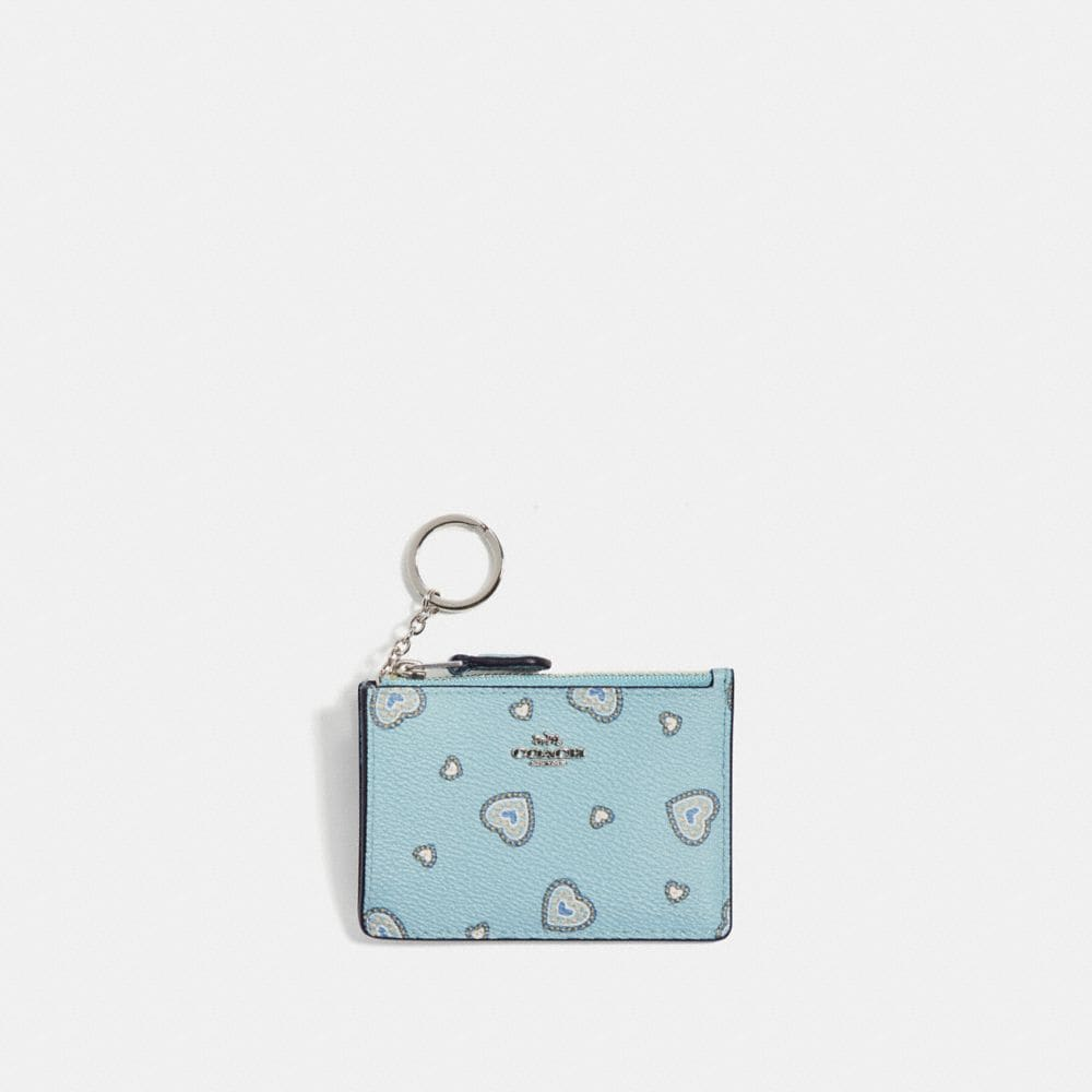 MINI SKINNY ID CASE WITH WESTERN HEART PRINT