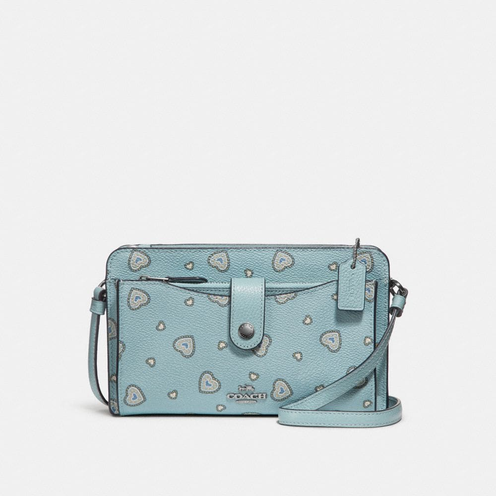 Coach Pop-Up Messenger With Western Heart Print