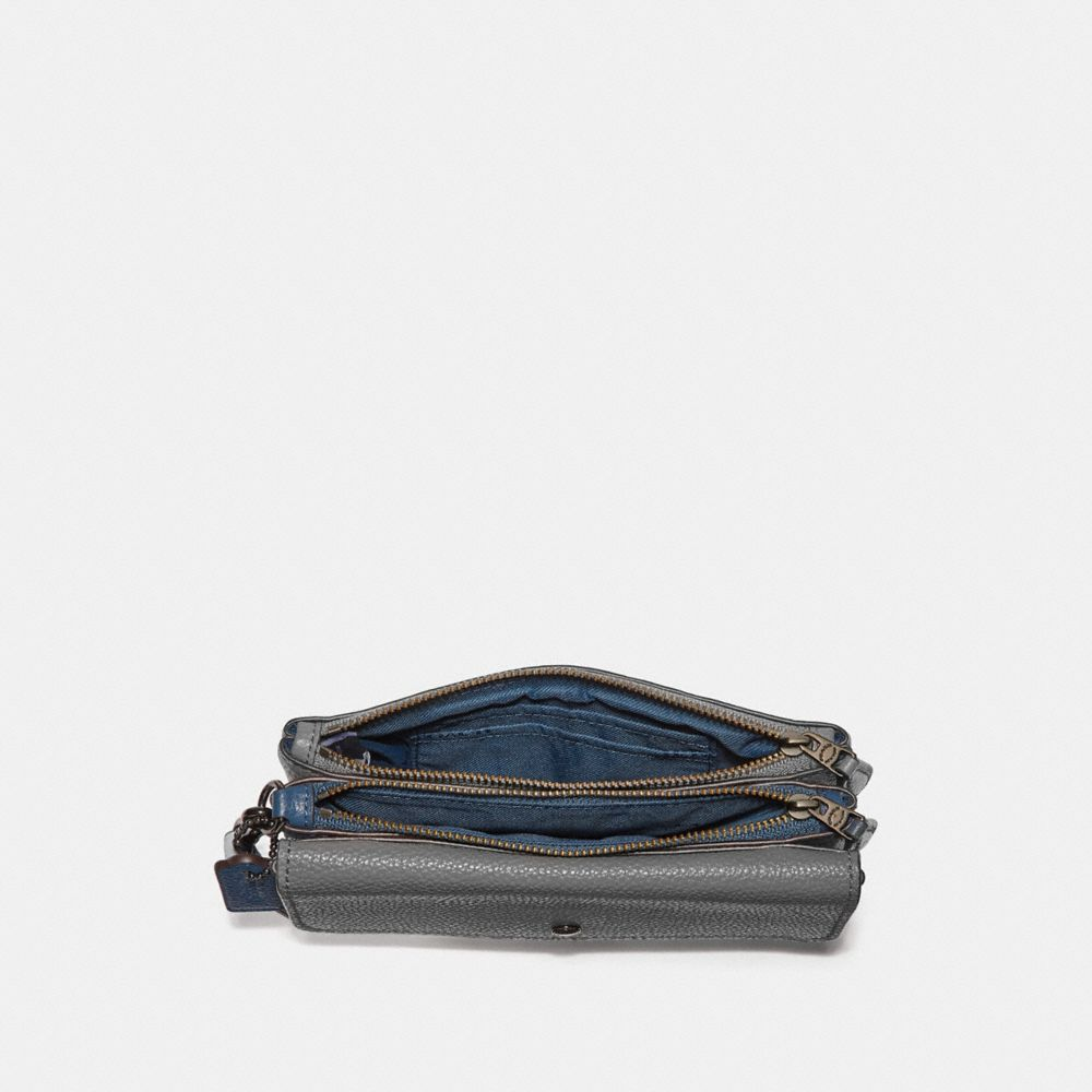 Coach Triple Small Wristlet in Colorblock Alternate View 1