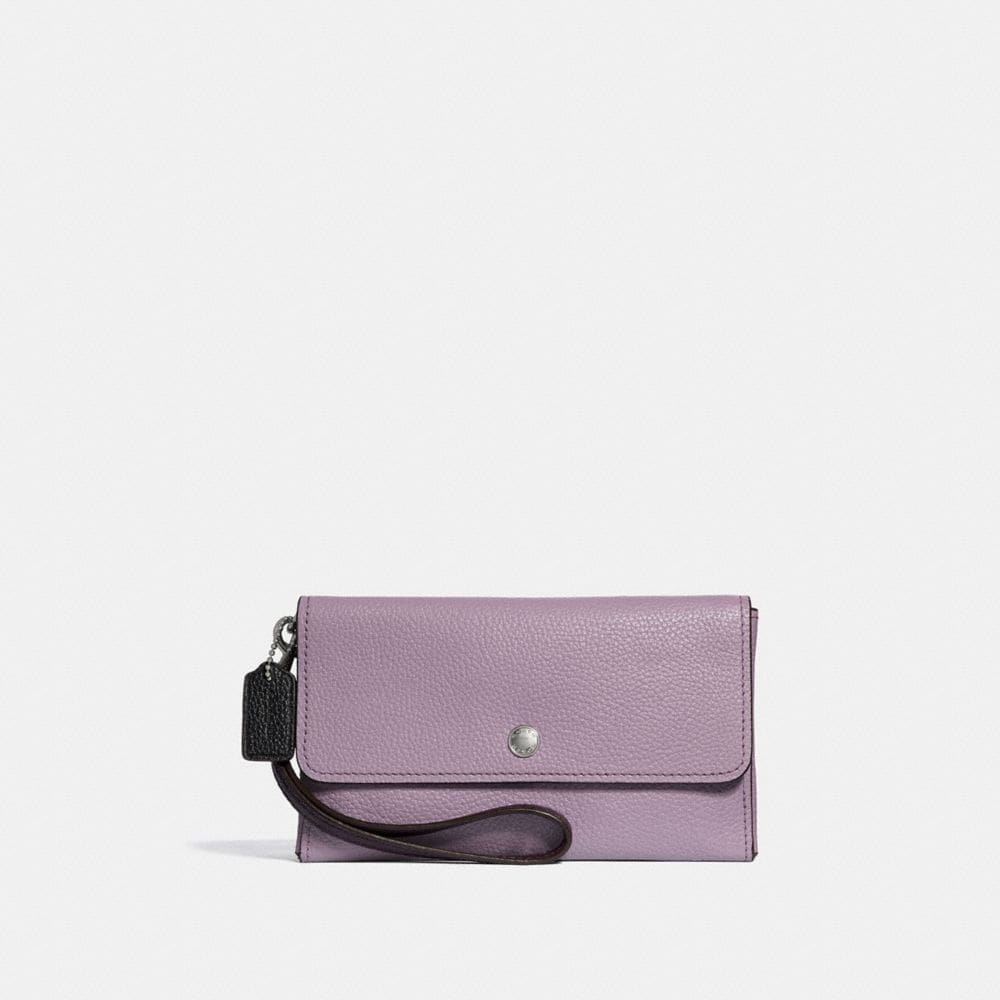 TRIPLE SMALL WRISTLET IN COLORBLOCK LEATHER