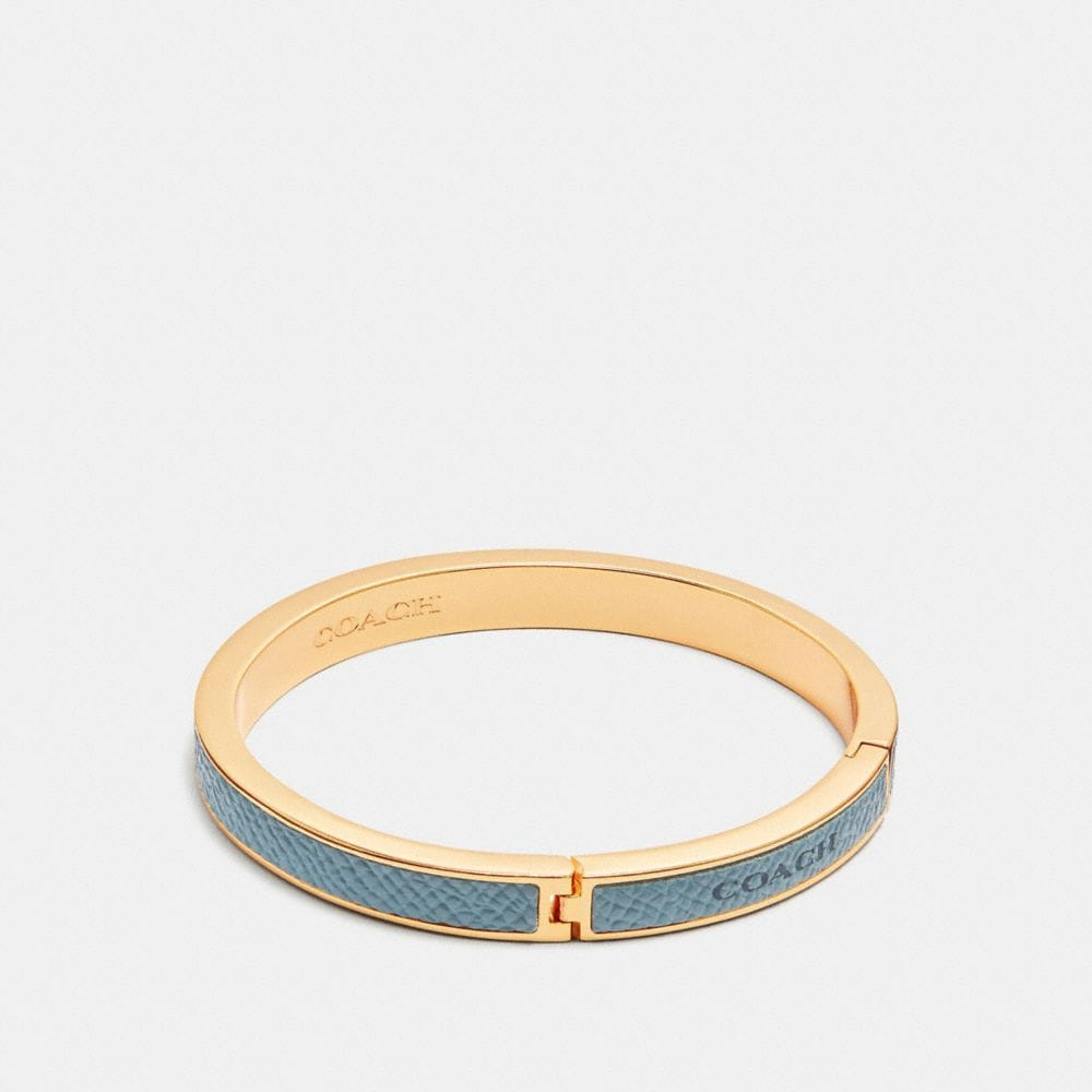 Coach Coach Plaque Hinged Bangle