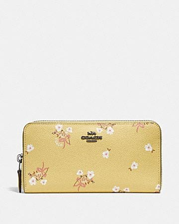 Womens wallets coach accordion zip wallet with floral bow print mightylinksfo