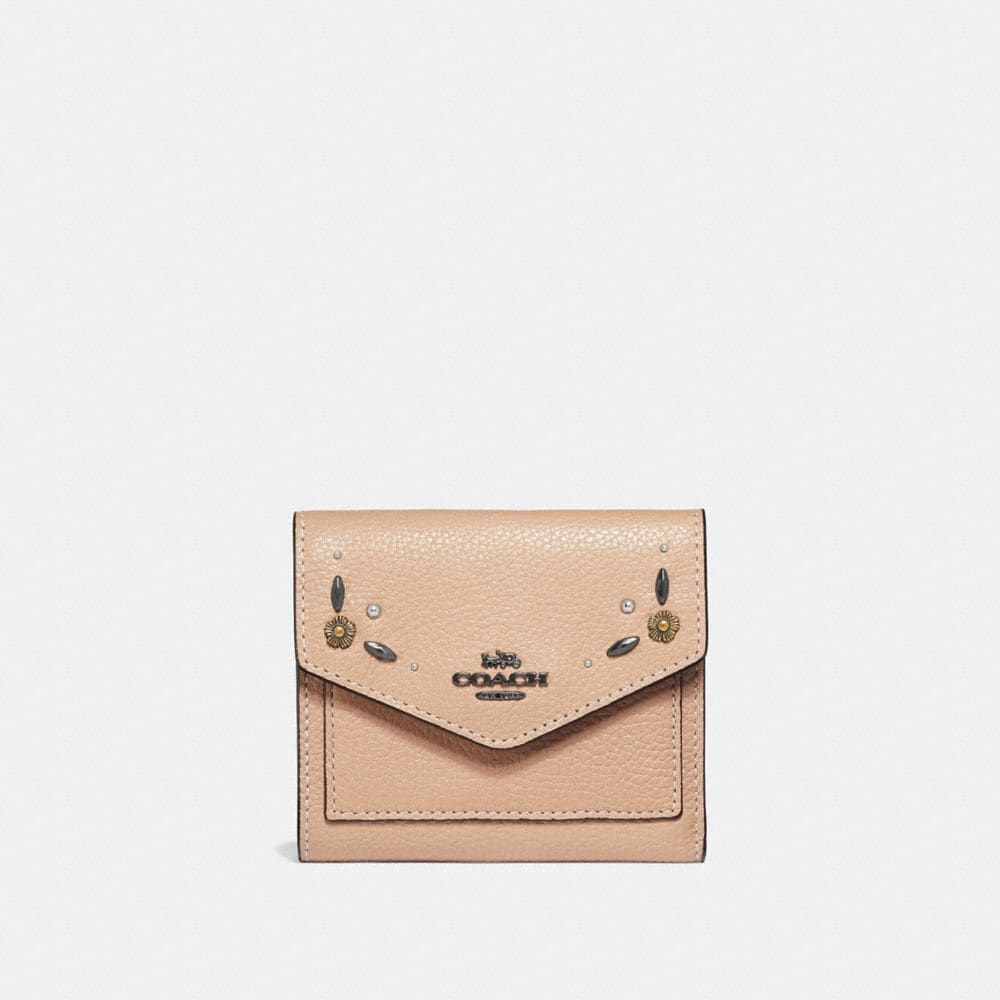 Coach Small Wallet With Prairie Rivets