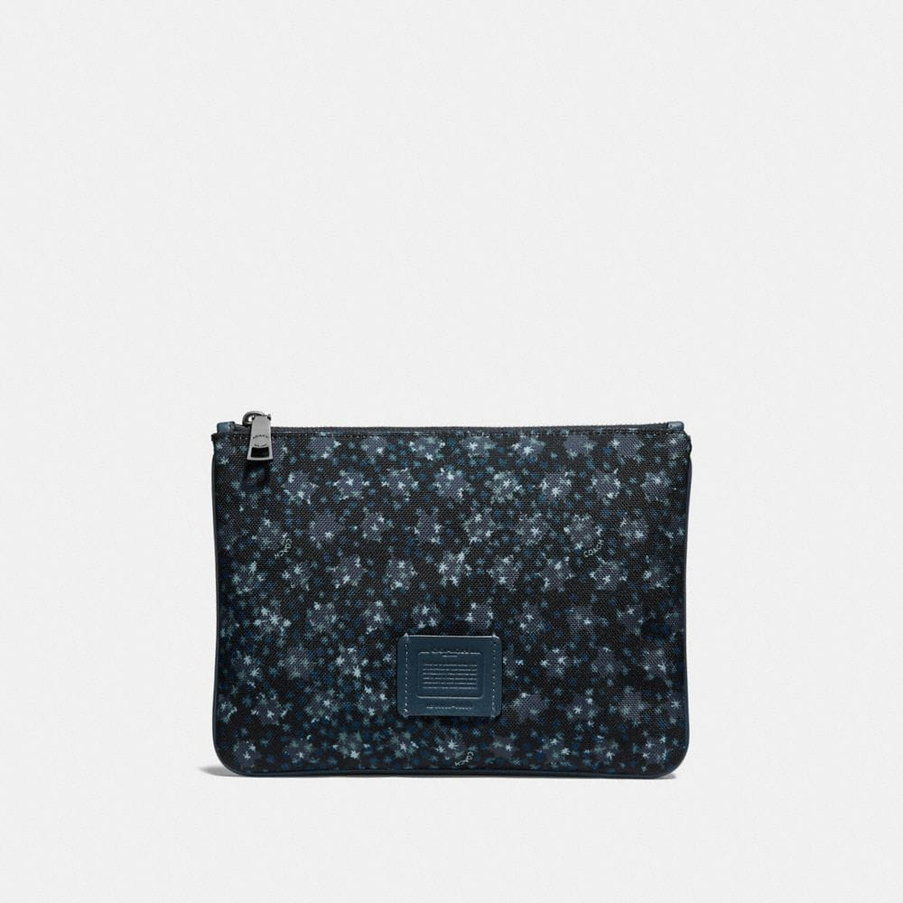 MULTIFUNCTIONAL POUCH WITH OMBRE STAR PRINT