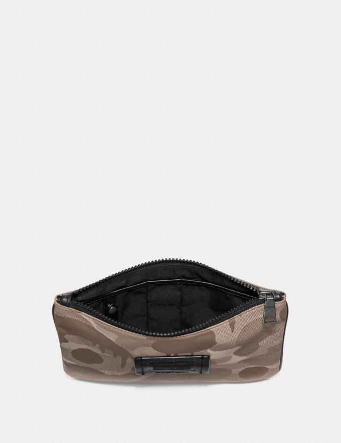 Coach Multifunctional Pouch With Wild Beast Print Light Khaki Men Accessories Tech & Travel Alternate View 1