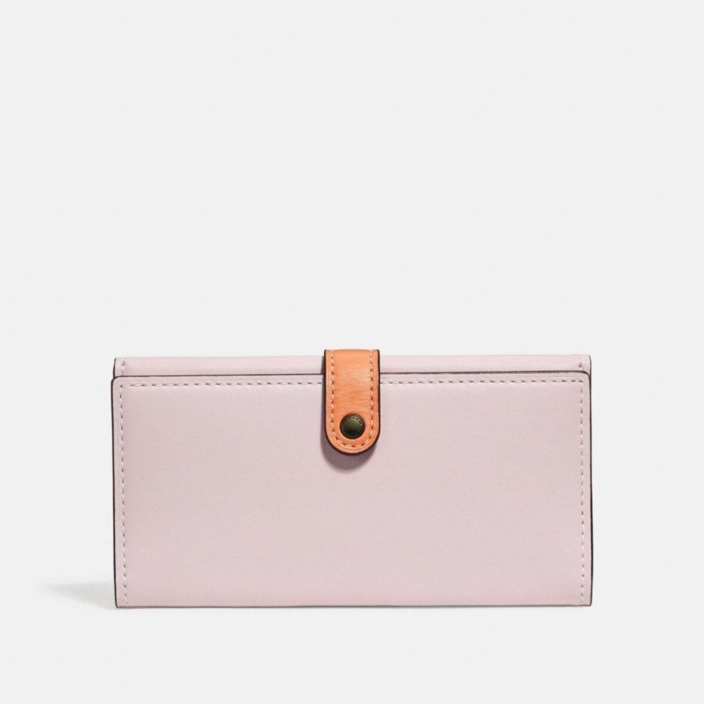 Coach Slim Trifold Wallet in Colorblock