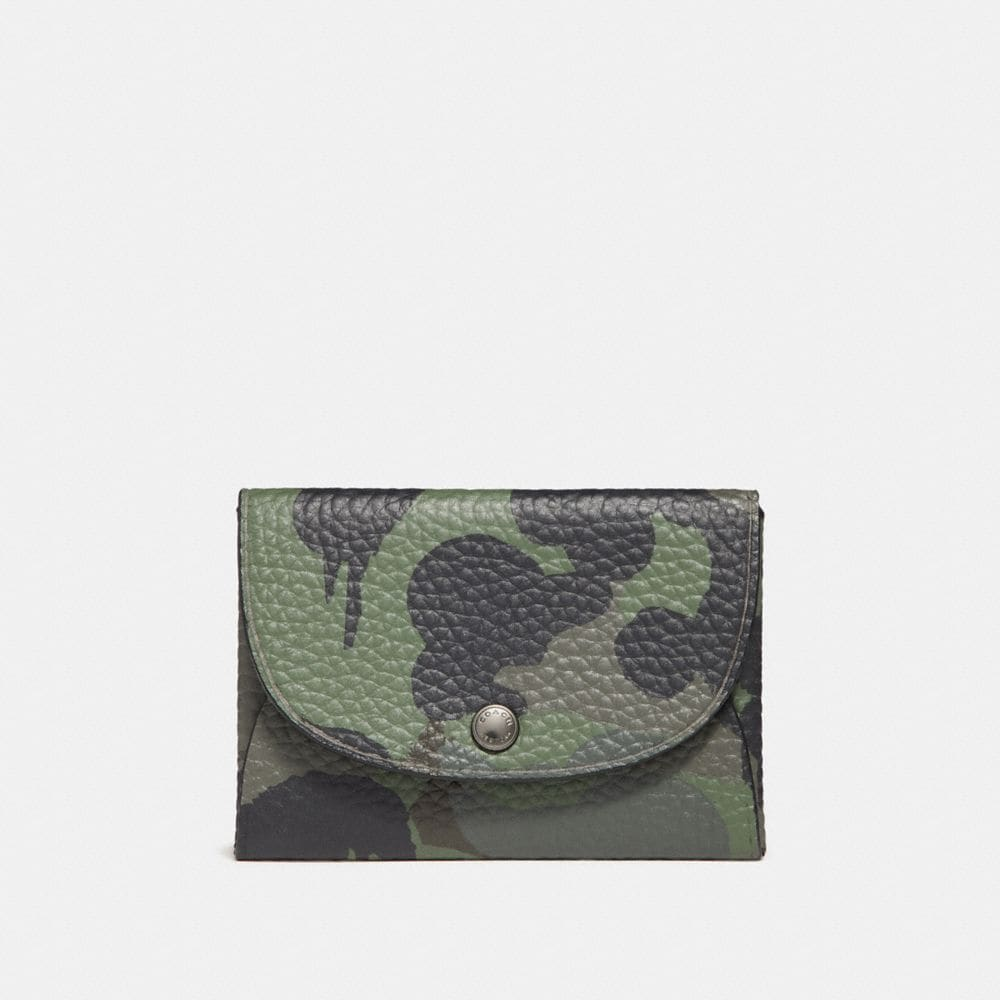 Coach Snap Card Case With Wild Beast Print