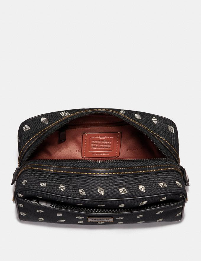 Coach Dopp Kit With Dot Diamond Print Black/Chalk SALE Sale Edits New to Sale New to Sale Alternate View 1