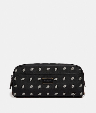 "NECESSAIRE MIT ""DOT DIAMOND""-PRINT"