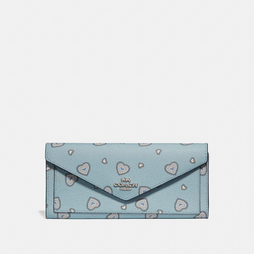 Coach Soft Wallet With Western Heart Print