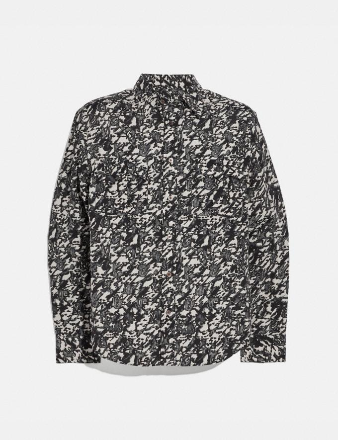 Coach Printed Shirt Black Multi New Men's New Arrivals Collection