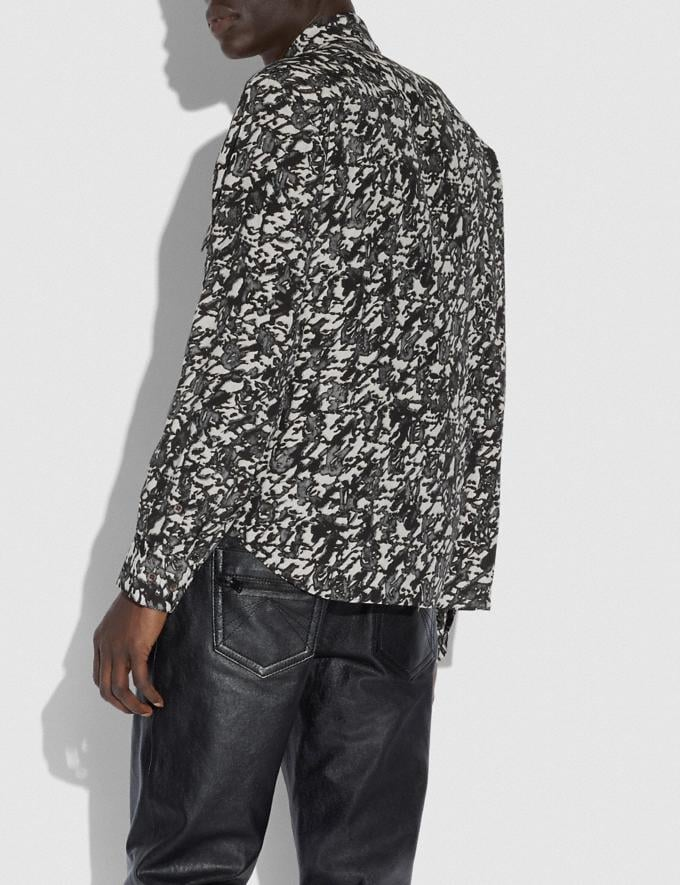 Coach Printed Shirt Black Multi New Men's New Arrivals Collection Alternate View 2
