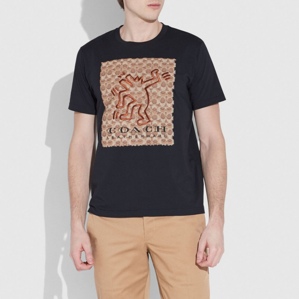 Coach Coach X Keith Haring Signature T-Shirt Alternate View 1