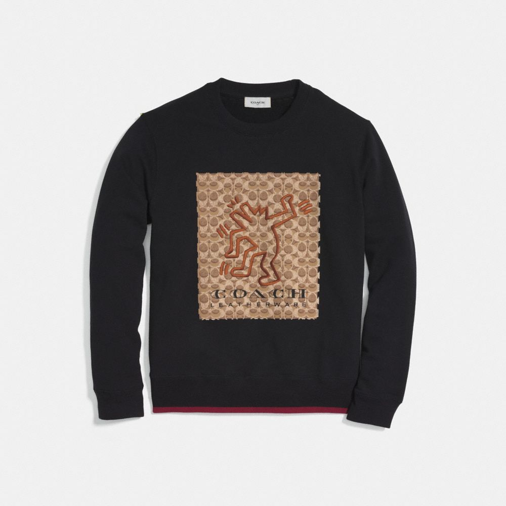 coach x keith haring signature sweatshirt