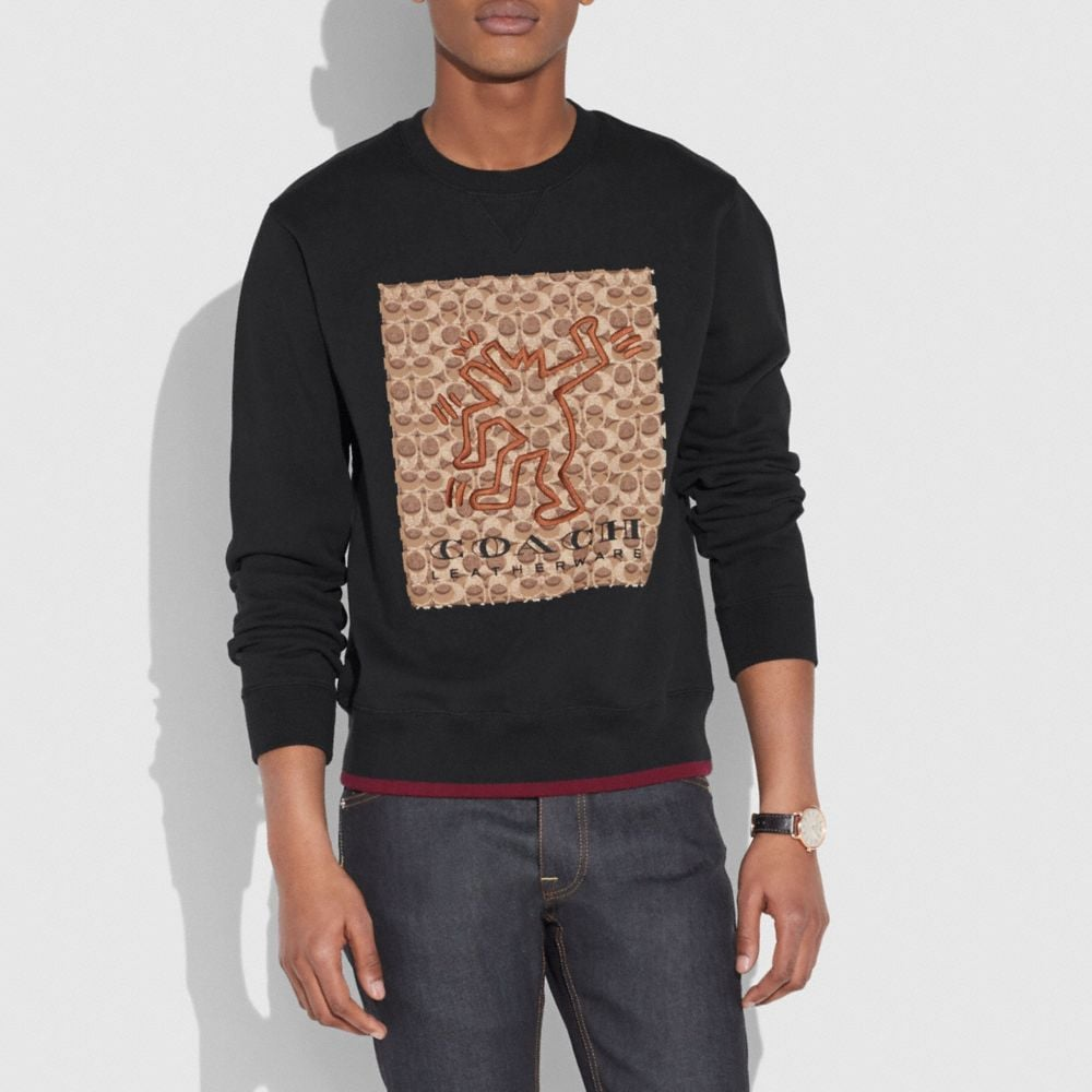 Coach Coach X Keith Haring Signature Sweatshirt Alternate View 1