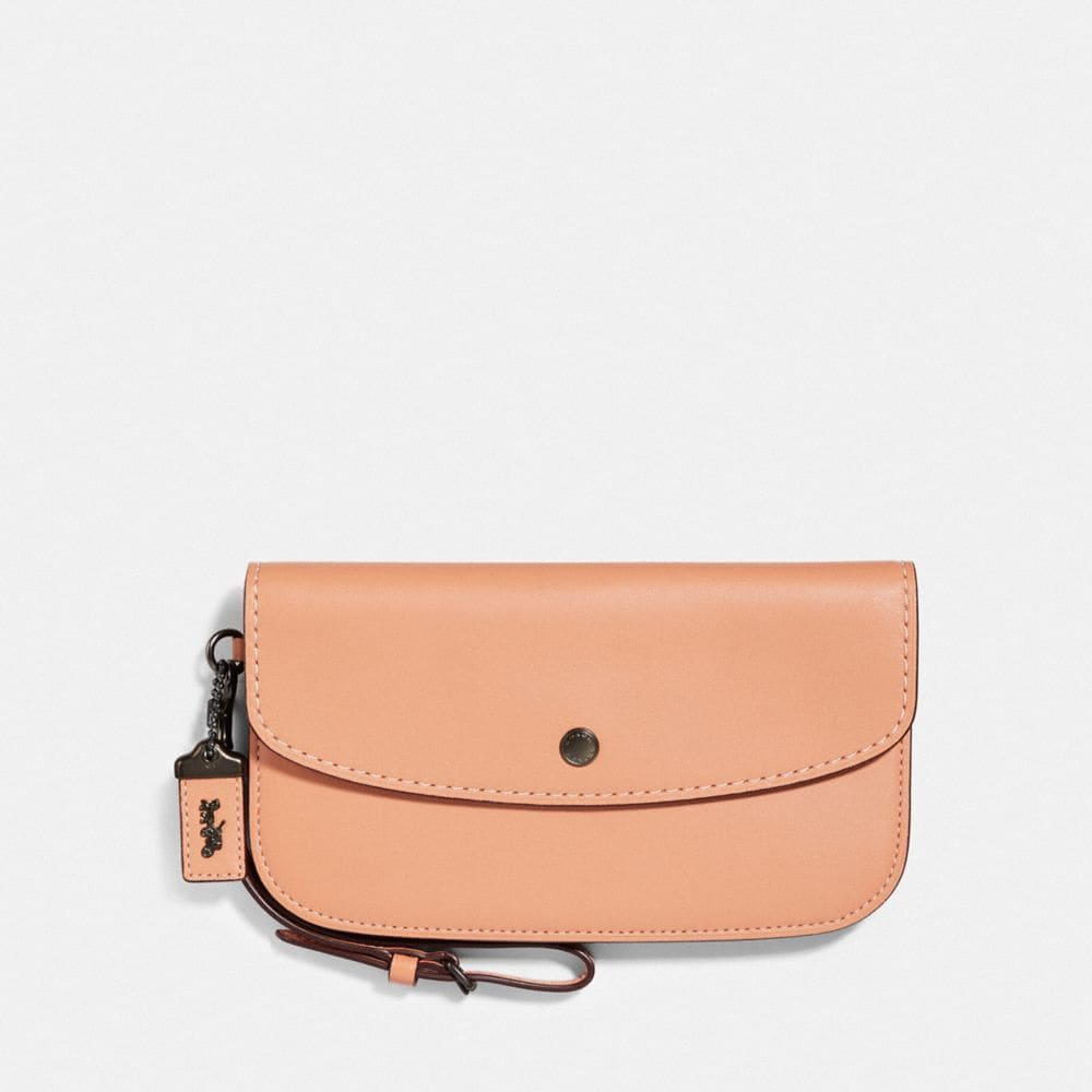 COACH LARGE CLUTCH WITH FLORAL PRINT INTERIOR - WOMEN'S