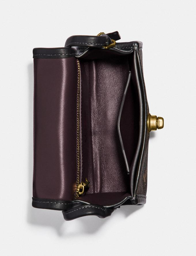 Coach Turnlock Top Handle With Horse and Carriage Print Brass/Brown Black  Alternate View 2