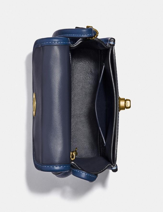 Coach Turnlock Top Handle With Horse and Carriage Print B4/Blue True Blue  Alternate View 2