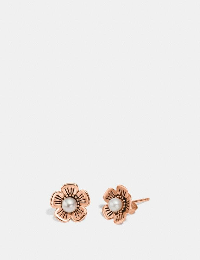 Coach Freshwater Pearl Tea Rose Earrings Rosegold Gifts For Her Bestsellers