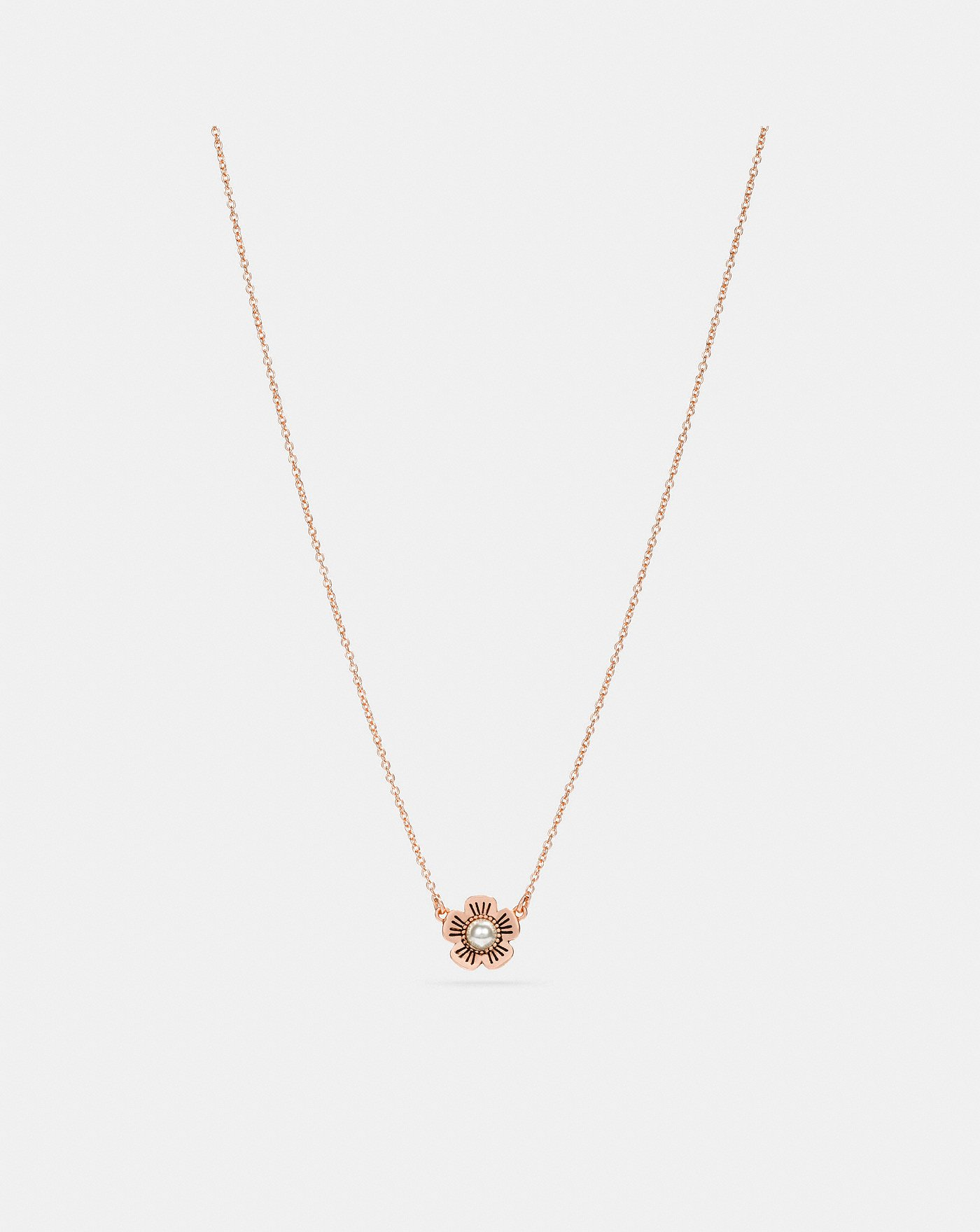 876be484eca7 Collar De Perlas Cultivadas Y Rosa De TÉ