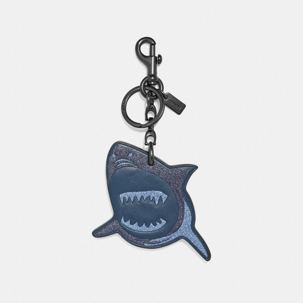 Coach Sharky Bag Charm Multi/black
