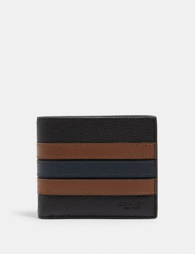Coach 3-In-1 Wallet With Varsity Stripe Qb/Black Saddle/Midnight DEFAULT_CATEGORY