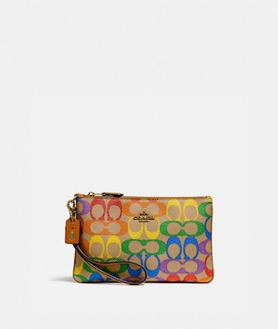 SMALL WRISTLET IN RAINBOW SIGNATURE CANVAS