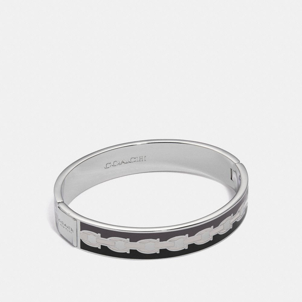 signature chain hinged bangle