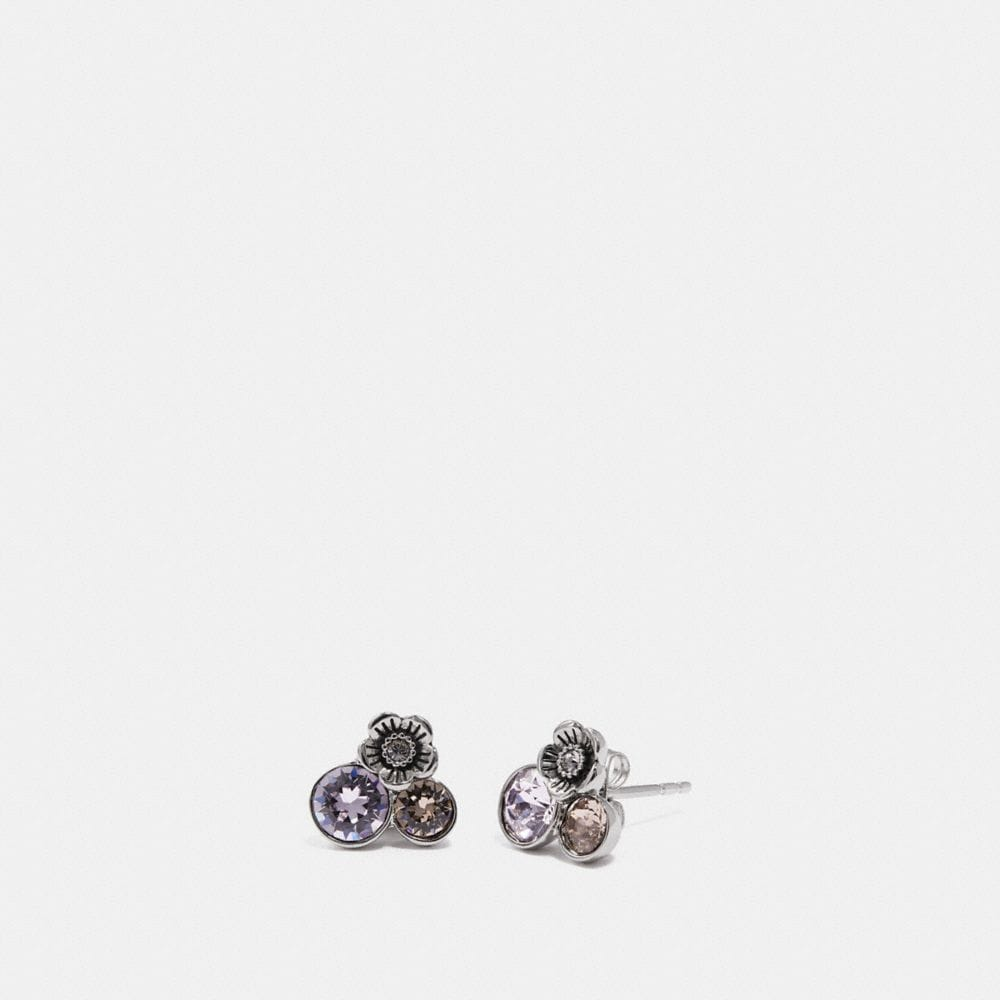 Coach Tea Rose Cluster Earrings