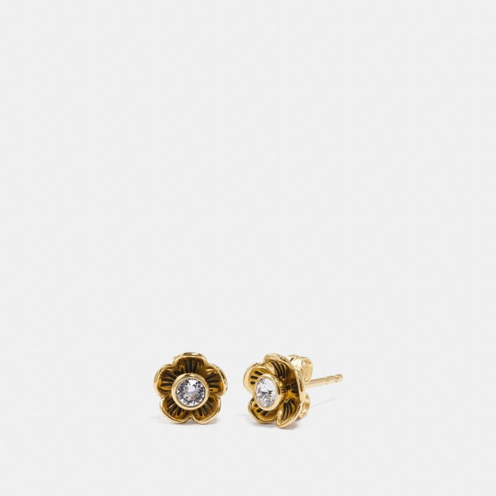 COACH TEA ROSE PETAL EARRINGS - WOMEN'S