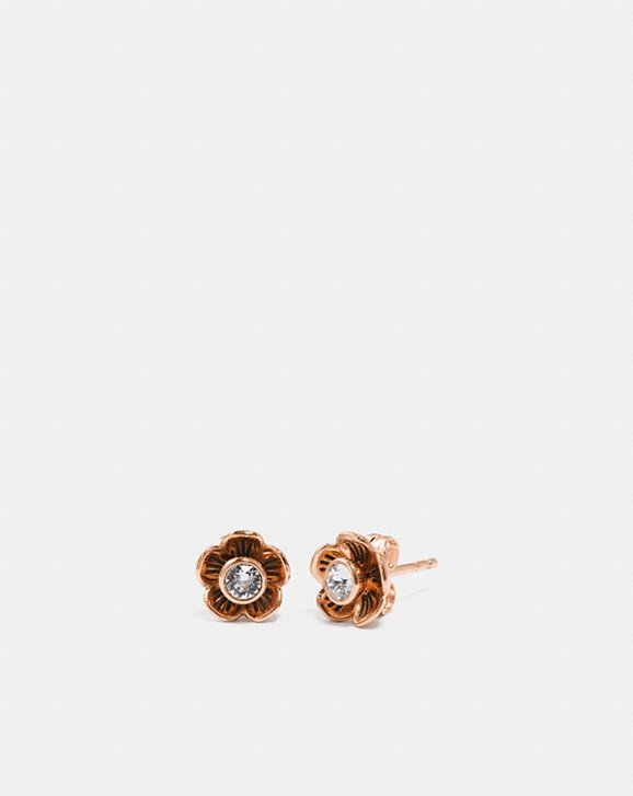 Coach TEA ROSE PETAL STUD EARRINGS
