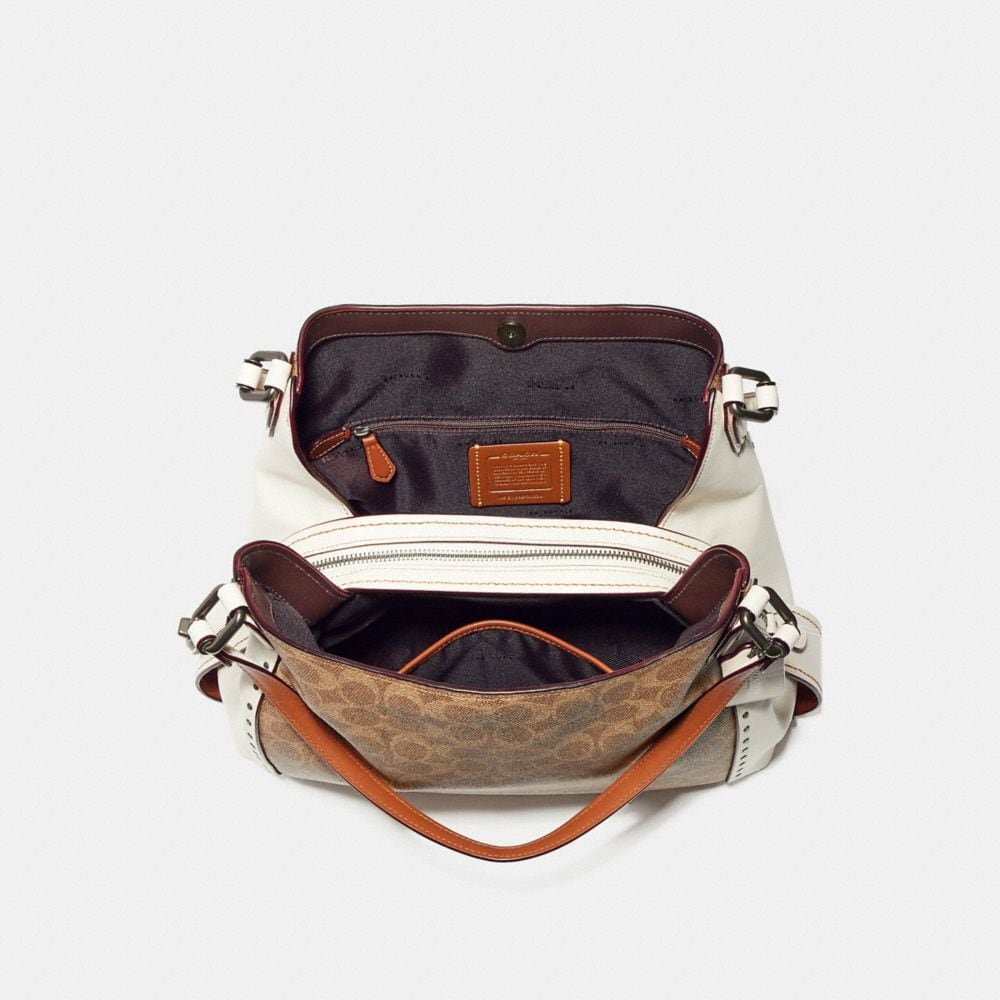 Coach Edie Shoulder Bag 31 in Signature Canvas With Rivets Alternate View 2