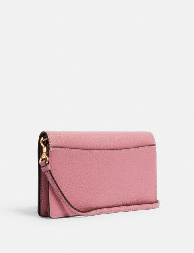Coach Anna Foldover Crossbody Clutch Im/Rose Deals Finds Under $100 Alternate View 1