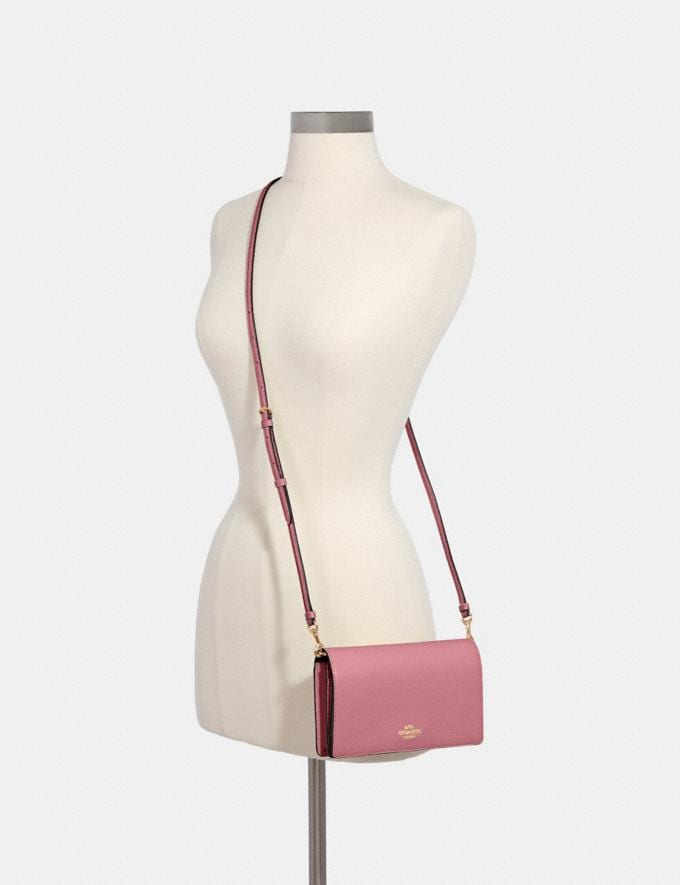 Coach Anna Foldover Crossbody Clutch Im/Rose Deals Finds Under $100 Alternate View 3