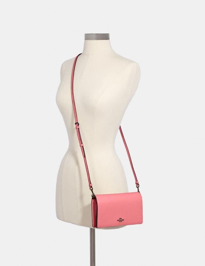 Coach Anna Foldover Crossbody Clutch Qb/Pink Lemonade Clearance New To Clearance Alternate View 2