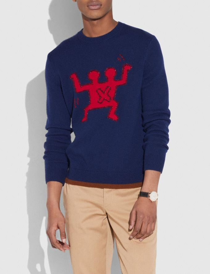 Coach Coach X Keith Haring Sweater Navy