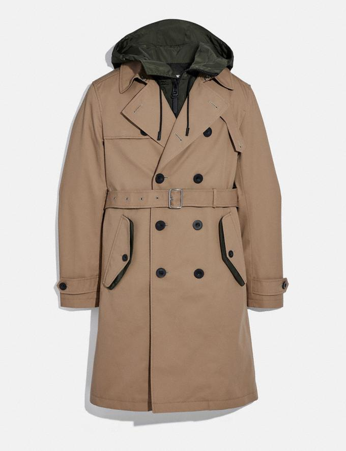 Coach Utility Trench Khaki/Olive Men Ready-to-Wear Jackets & Outerwear