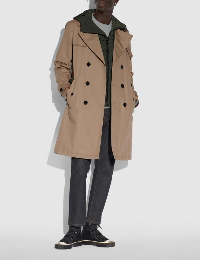 Coach Utility Trench Khaki/Olive Men Ready-to-Wear Jackets & Outerwear Alternate View 1