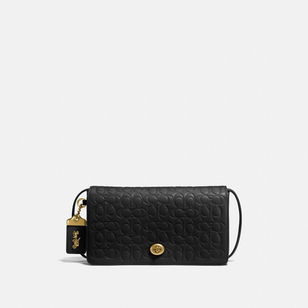 1941 Signature Leather Dinky Bag, Black/Brass
