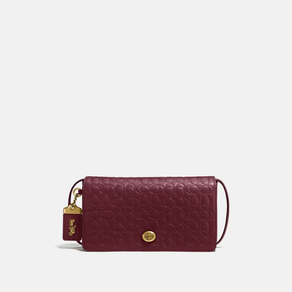 COACH DINKY IN SIGNATURE LEATHER - WOMEN'S