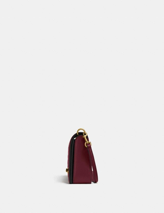 Coach Dinky in Signature Leather Bordeaux/Brass VIP SALE Women's Sale Bags Alternate View 1