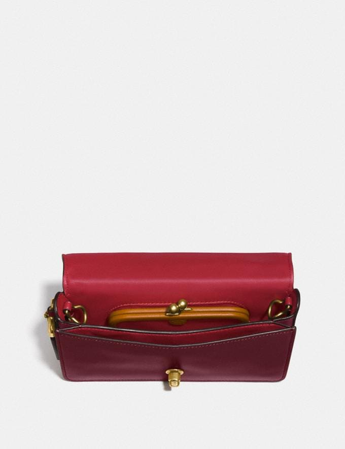 Coach Dinky in Signature Leather Bordeaux/Brass VIP SALE Women's Sale Bags Alternate View 2