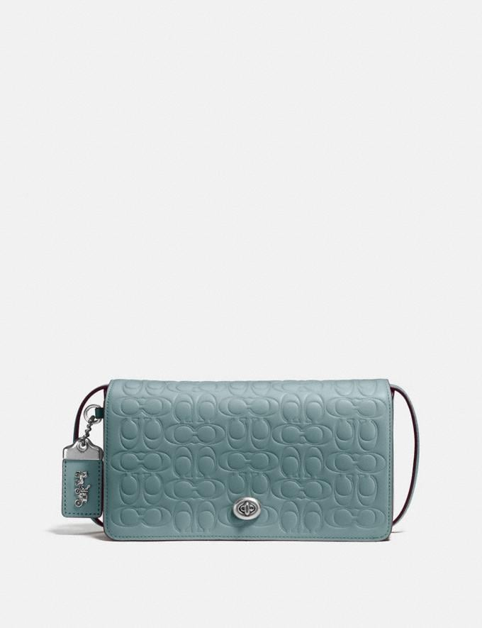 Coach Dinky in Signature Leather Sage/Silver Gifts For Her