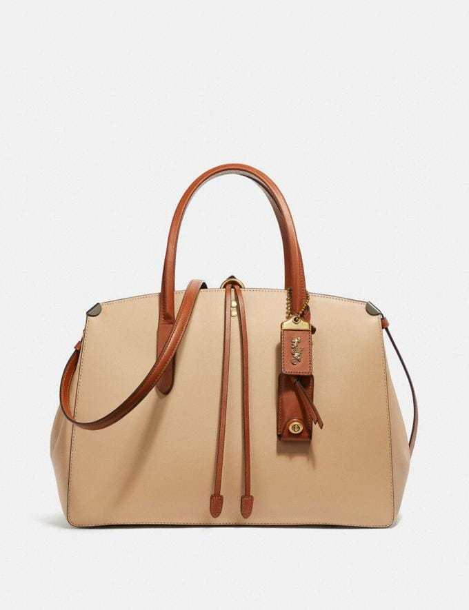 Coach Cooper Carryall in Colorblock Beechwood Multi Women Handbags