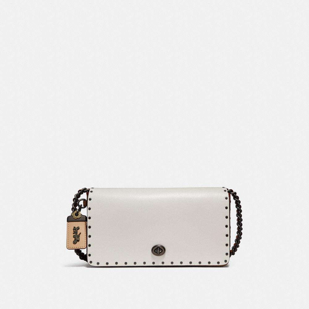 Coach Dinky With Rivets and Snakeskin Detail