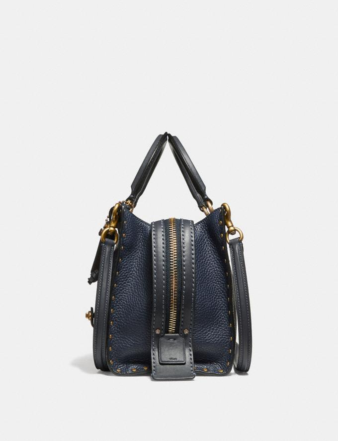 Coach Rogue 25 With Rivets Heather Grey/Black Copper Women Bags Shoulder Bags Alternate View 1