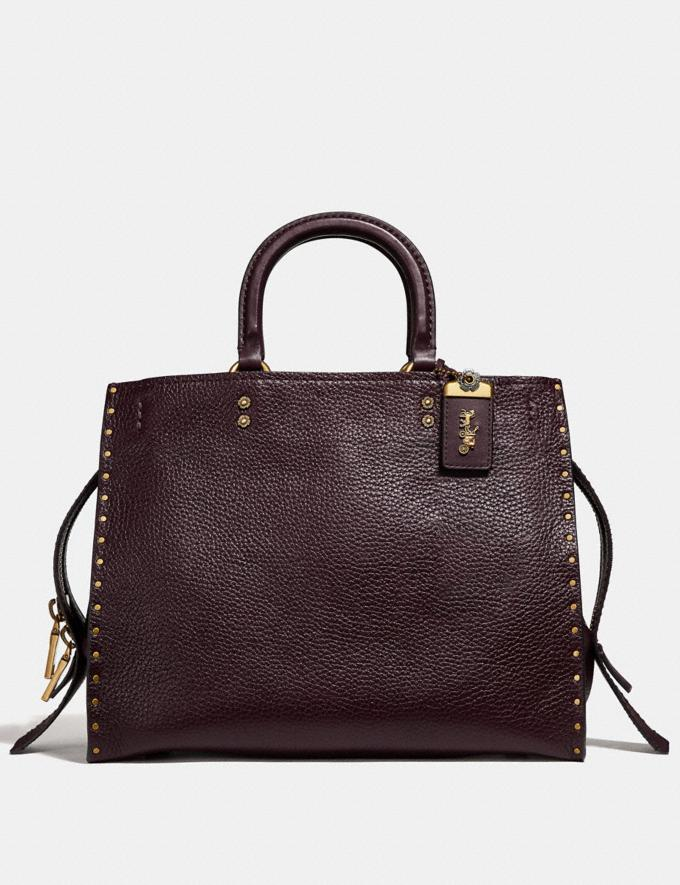 Coach Rogue With Rivets Oxblood/Brass Coach Exclusive Event